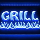 Grill Chips BBQ Restaurant LED Light Sign Bar Beer Pub Store