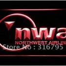 Northwest Airlines logo Beer Bar Pub Light Sign Neon