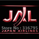 Japan Airlines logo Beer Bar Pub Light Sign Neon