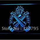 Springfield Armory Firearms Gun logo Beer Bar Pub Light Sign Neon