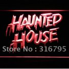 Haunted House logo Beer Bar Pub Light Sign Neon
