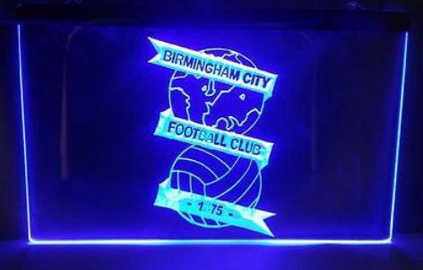 BIRMINGHAM CITY FOOTBALL CLUB 1875 bar beer pub club 3d signs LED Neon Sign man cave