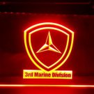 3rd Marine Division Military USMC bar beer pub club 3d signs LED Neon Sign man cave