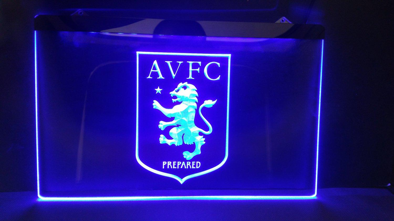 Aston Villa bar beer pub club 3d signs LED Neon Sign man cave