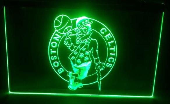 Boston Basketball bar beer pub club 3d signs LED Neon Sign man cave