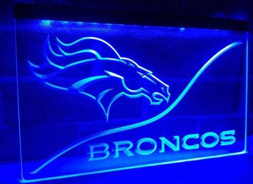 Denver Broncos bar beer pub club 3d signs LED Neon Sign man cave