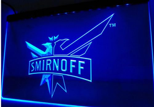 Smirnoff Vodka Wine Logo bar Beer pub club 3d signs LED Neon Sign man cave