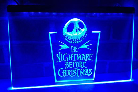Nightmare before Christmas bar Beer pub club 3d signs LED Neon Sign man cave