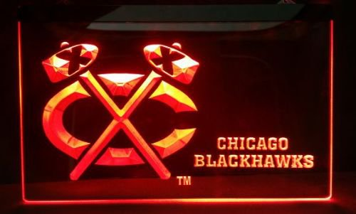 Blackhawks Logo bar Beer pub club 3d signs LED Neon Sign man cave