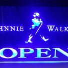 Johnnie Walker Open Logo Beer Bar Pub Store Light Sign Neon
