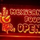 Mexican Food Open Beer Bar Pub Light Sign Neon