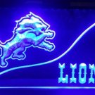 B-214 Detroit Lions logo beer Bar pub 3d signs LED Neon Light Signs