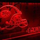 b-194 San Francisco 49ers helmet LED Neon Light Sign home decor crafts