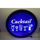 Cocktail RGB led MultiColor wireless control beer bar pub club neon light sign