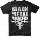 Black Men Tshirt Black Metal Matters Black Tshirt For Men