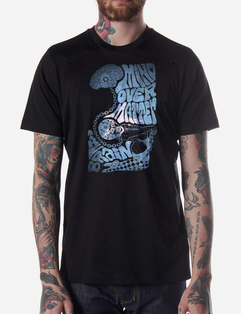 Black Men Tshirt Mind Over Matter Black Tshirt For Men