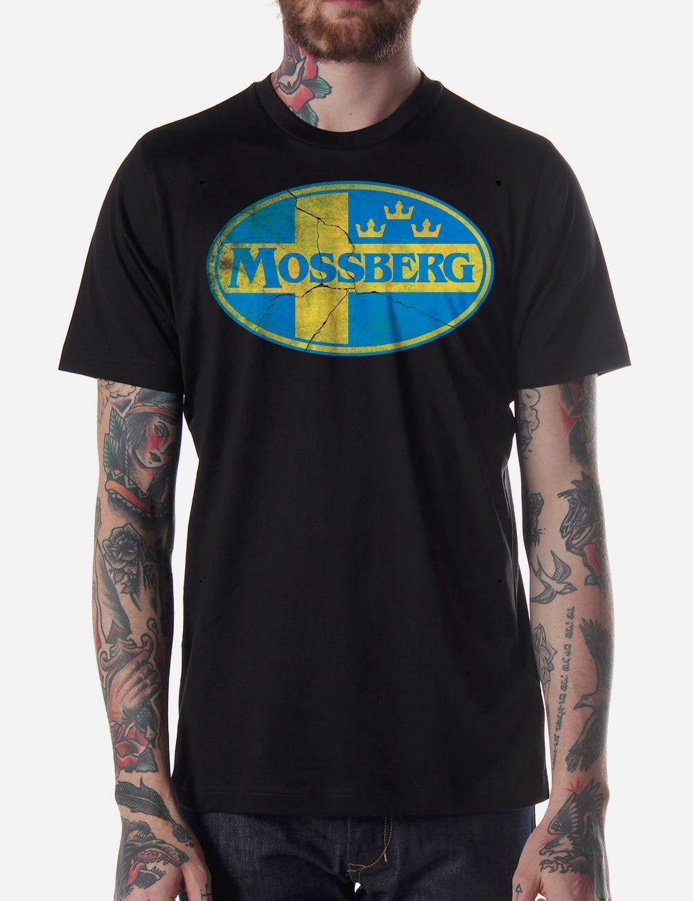 Black Men Tshirt MOSSBERG Black Tshirt For Men