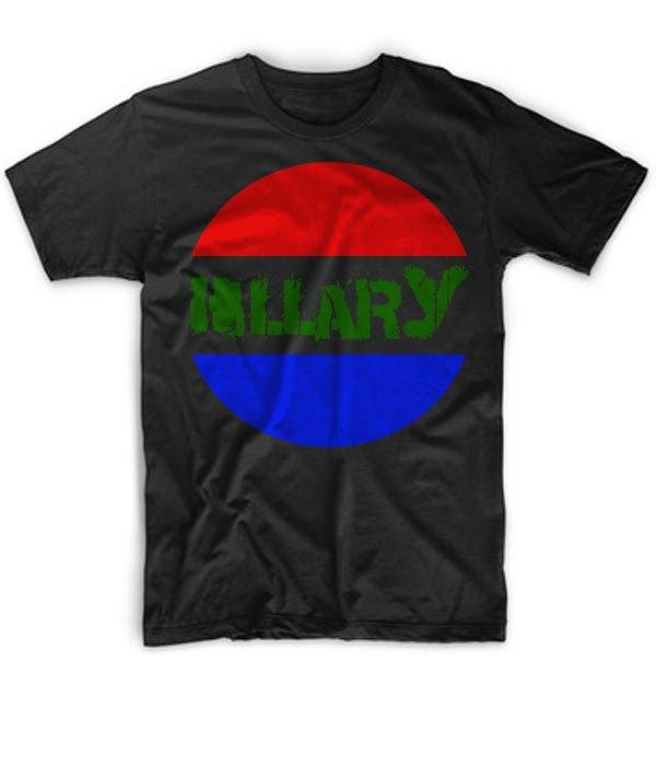 Black Men Tshirt Hillary Clinton Retro Vote Hillary Button 2016 Black Tshirt For Men