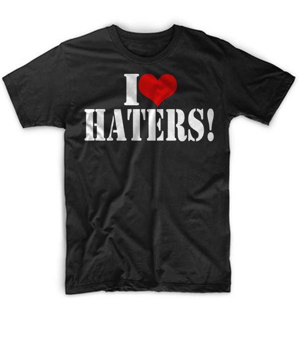 Black Men Tshirt I LOVE HATERS Black Tshirt For Men