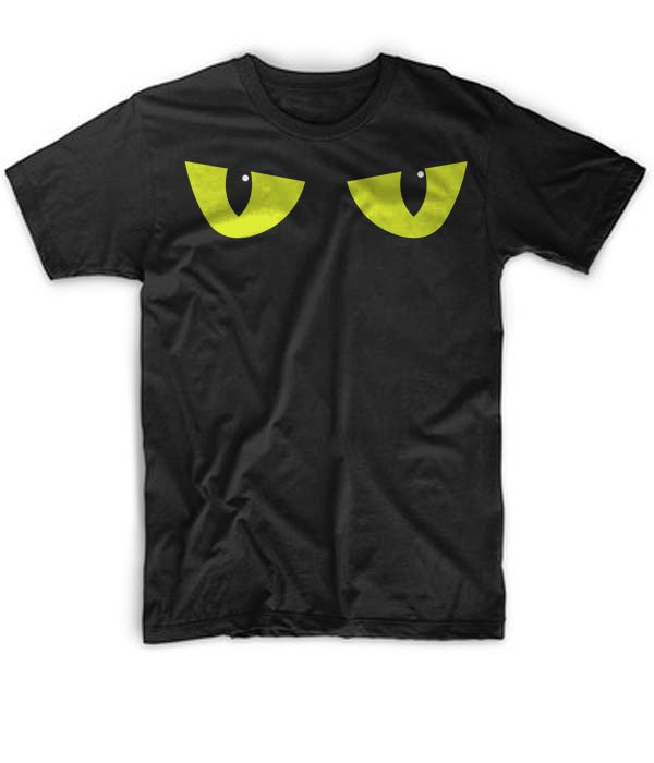 Black Men Tshirt Spooky Eyes Yellow Spooky Eyes Black Tshirt For Men