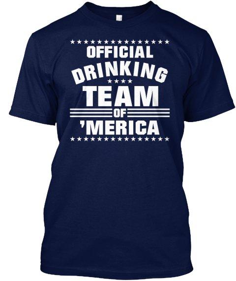 Black Men Tshirt Drinking Team America Black Tshirt For Men