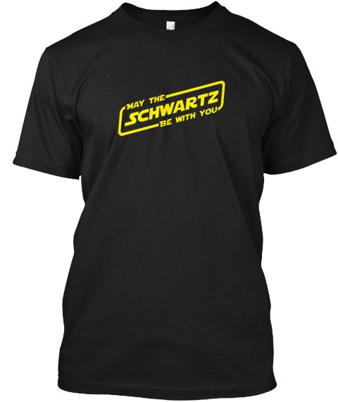 Black Men Tshirt frontMay the Schwartz be with you Black Tshirt For Men