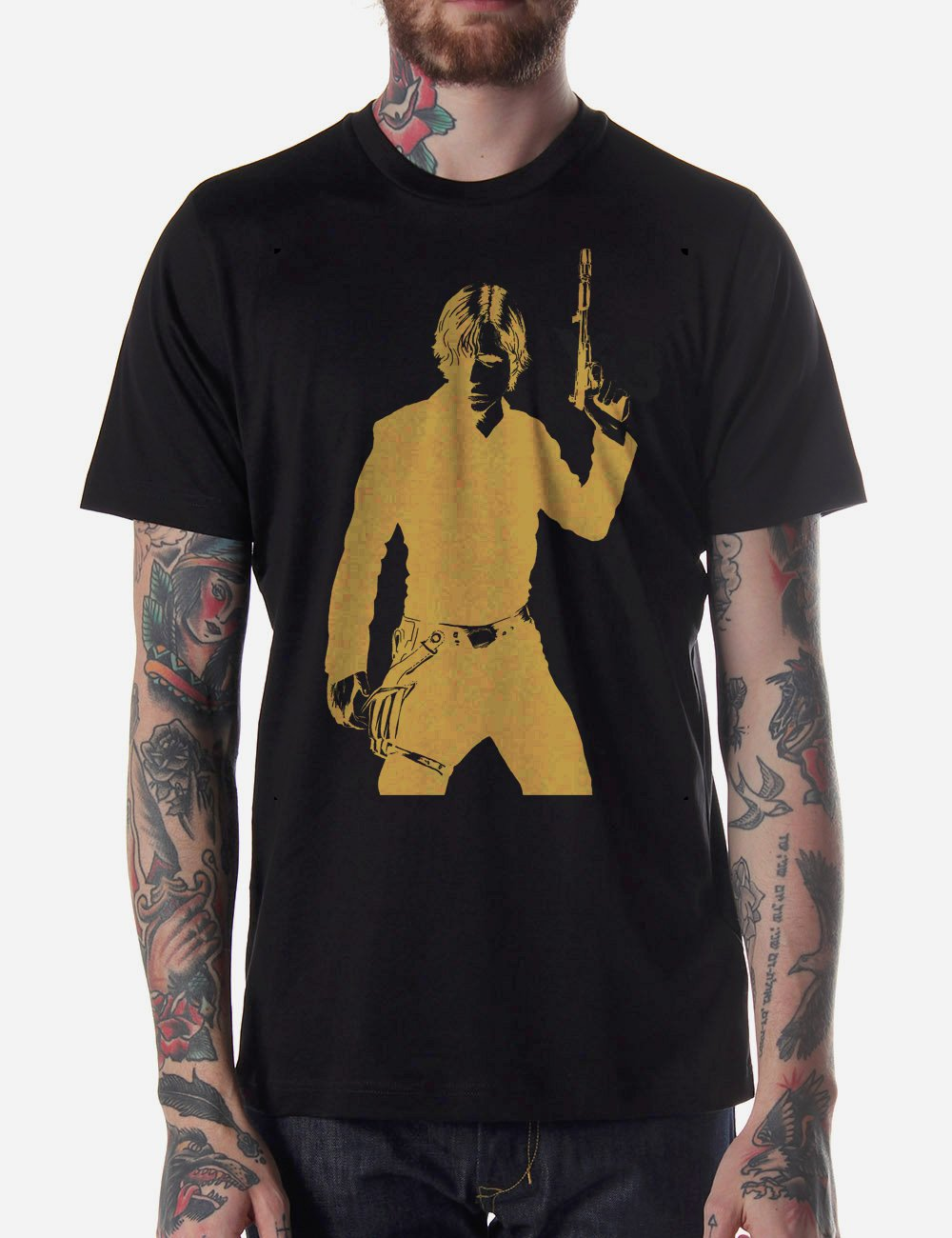 Black Men Tshirt Luke Skywalker Black Tshirt For Men