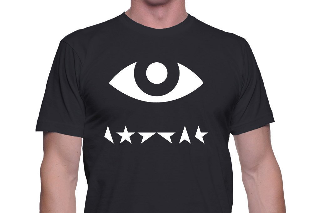 Black Men Tshirt David Bowie star eye men Shirt David Bowie Black Tshirt For Men