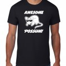Black Men Tshirt Awesome Possum TShirt, Animal Sunglasses Black Tshirt For Men