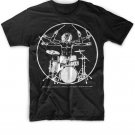 Black Men Tshirt DaVinci Drummer Black Tshirt For Men