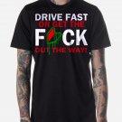 Black Men Tshirt DRIVE FAST Funny JDM Soshinoya Black Tshirt For Men