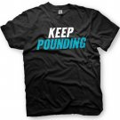 Black Men Tshirt Keep Pounding - Carolina Panthers Black Tshirt For Men