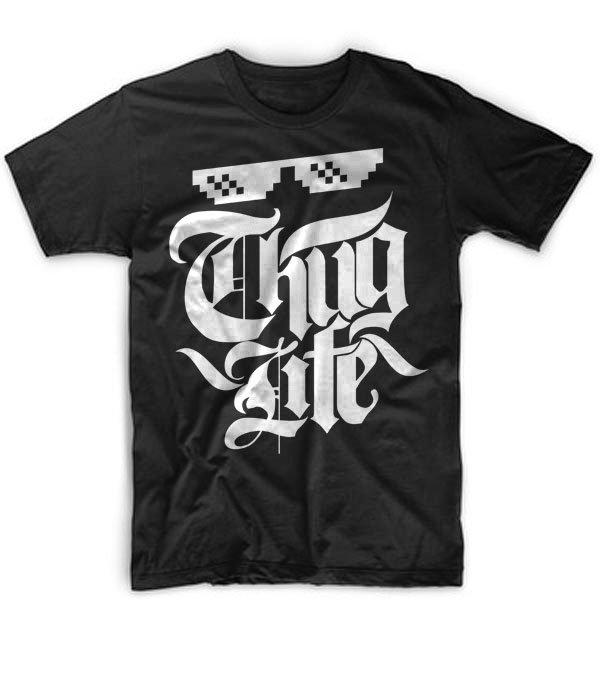 Black Men Tshirt thug Life Funny Gift Shirt for Mens