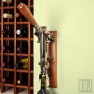 Professional Wall-mounted Corkscrew with Wood Backing BOJ (Black Nickeled)