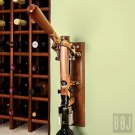 Professional Wall-mounted Corkscrew with Wood Backing BOJ (Old Coppered)