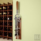 Professional Wall-mounted Corkscrew with Wood Backing BOJ (Chrome-Plated)