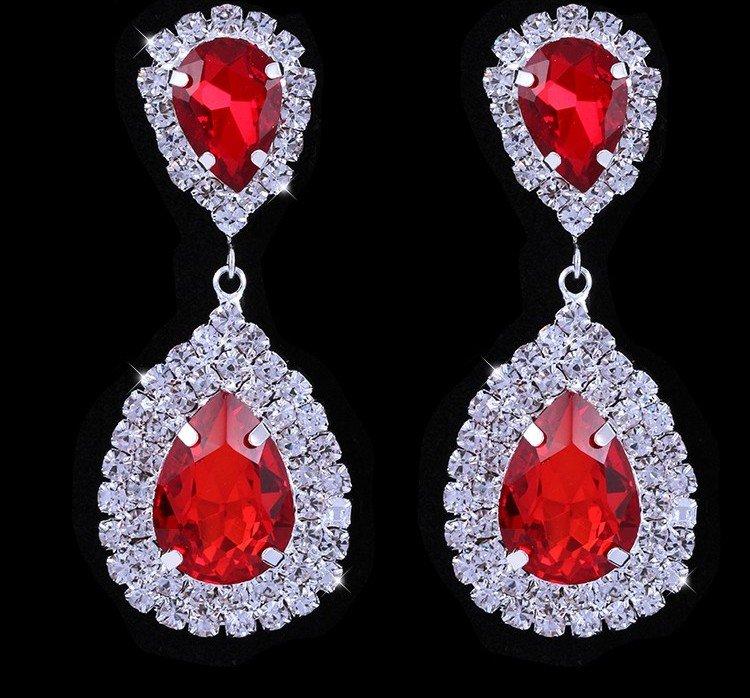 Earrings �Infinity� (Red)