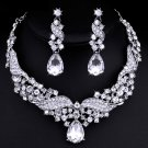 """Wedding Jewelry Set """"Wings of Love"""" (1 Necklace and 2 Earrings)"""