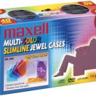 MAXELL 190076 CD/DVD Jewel Cases (40-pk Slim Colors)