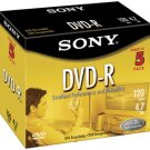 SONY 5DMR47L4 4.7 GB WRITE ONCE DVD-R (5 PK)