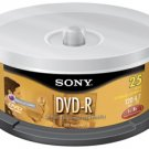 SONY 25DMR47LS4 4.7 GB WRITE ONCE DVD-R SPINDLE (25-CT SPINDLE)