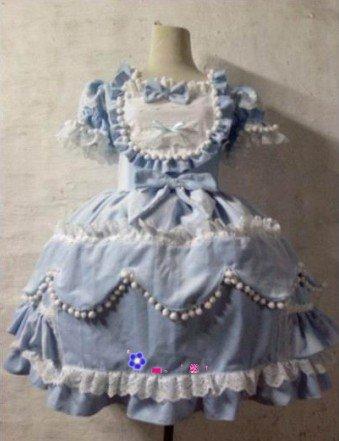 princess party dress ( BLUE)