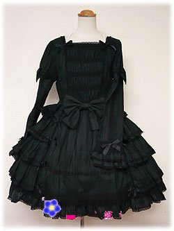 gothic lolita Lotus leaf fold dress