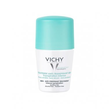 VICHY Anti-Perspirant anti-transpirant Deodorant Roll On 48h 2x50ml  (pack of 2)
