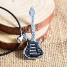USA Fashion Men Guitar Pendant Black Stainless Steel Charm Necklace Jewelry Gift
