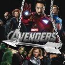 USA Silver Plated Marvel Comics Avengers Logo Horizontal Arrow Necklace