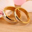 USA 2Pcs 18K Rose Gold Forever Love Couple Engagement Promise Wedding Ring Set