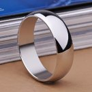 USA 8MM Men Women Silver Stainless Steel Wedding Promise Ring Band Size 6-12