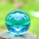 USA 40mm+Stand Asian Rare Natural Sea Blue Magic K9 Crystal Healing Ball Sphere