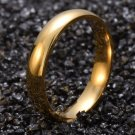 4MM Men Women Plain Gold plated Promise Engagement Ring His Her Ring Size 6-11